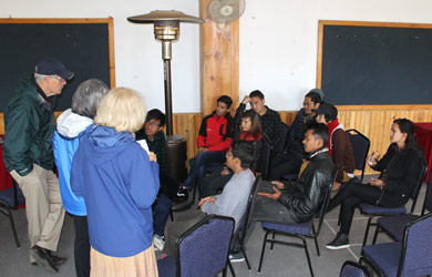 Nepali students meeting with mentors